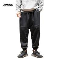 Nero Arancio Grigio Uomini Mutanda Casuale Maschio Moda Di Strada Hip-Hop Allentati Harem Pants Jogger Pantaloni Sportivi