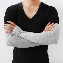 Весна и лето новые мужские солнцезащитные перчатки длинные половина относится к наружным рукавам вождения Велоспорт Модальные УФ рукава