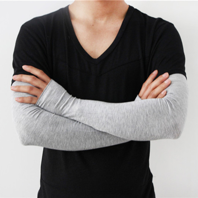 Spring and Summer New Men Sun Gloves Long Half Refers To The Outdoor Sleeve Driving Cycling Modal UV Sleeves Wholesale
