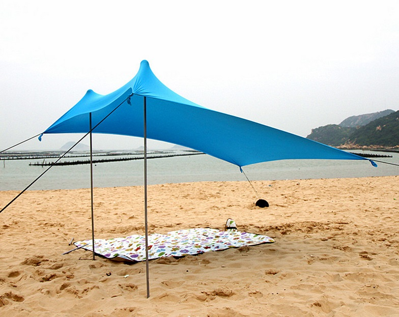 Smartlife Portable Stakeless Windproof Beach Shade Tent with Sand Anchors and Canopy for Beach, Picnic, Camping цена