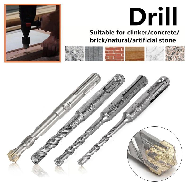 DWZ 110mm 5/6/8/10 mm SDS Plus Masonry Crosshead Twin spiral Hammer Drill Bits