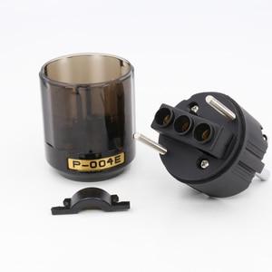 Image 3 - 2 pz di Alta Qualità Rhodium Placcato P004E Schuko Power Plug Maschio Connettore HIFI