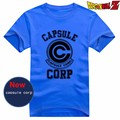 New Dragon Ball Z T-shirt Japão Anime cosplay Bulma CÁPSULA CORP T shirt de Algodão de Moda Hot Summer Tees