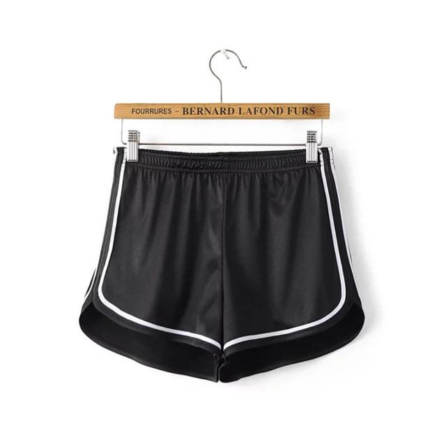 New 2018 Women Shorts Summer Silk Slim Beach Casual White Egde Shorts Hot Sport short