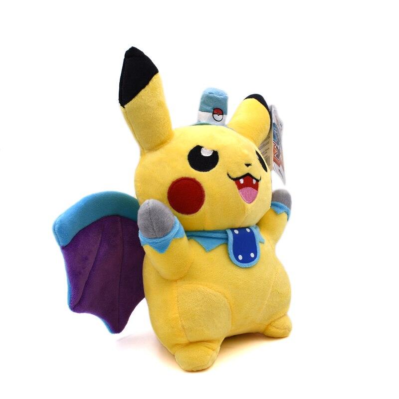 25cm Pikachu Cosplay Vampire Bat Plush Toys Cute Soft Toy Cartoon