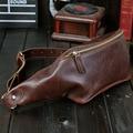 Hombre paquete de fanny paquetes de la cintura paquete pecho cuero genuino de la vendimia pequeña bolsa de viaje bolsos de la carpeta para los hombres de la cintura bolsas de cintura 6