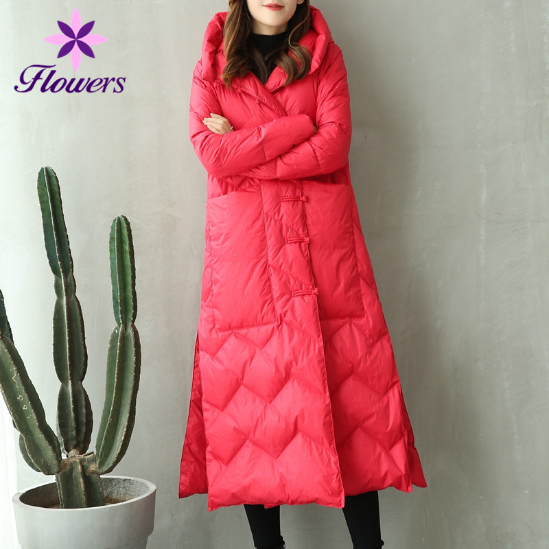 Type red Couleur Hiver Capuche Taille De emerald Rétro Lq255 Coréenne Femmes Solide Épaissir rose Loisirs La Version Mode Vêtements Lâche À Red camel Plus White Manteau Parka vqwtTBZB