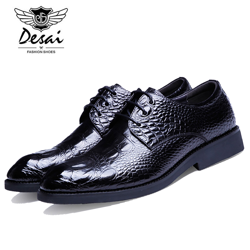 DESAI 2017 New Fashion Genuine Leather Men Casual Shoes Luxury Brand Leather Shoes High Quality Men Flats Shoes DS0026 top brand high quality genuine leather casual men shoes cow suede comfortable loafers soft breathable shoes men flats warm