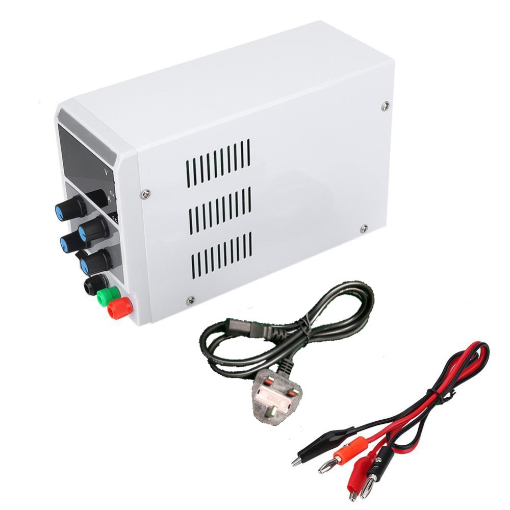 110/220V DC Power Supply Voltage Regulator Stabilizer 3-digit Display Support Overload/Overheating/Short-circuit etc Protection 2 pin thermal overload protection