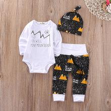 Christmas Infant Baby Boy Girl Outfits Clothes Romper Pants Leggings 3PCS Set