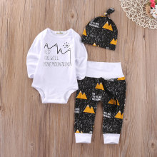 Christmas Infant Baby Boy Girl Outfits Clothes Romper Pants Leggings 3PCS Set