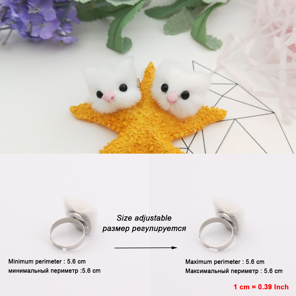 Furry Animal Rings Vintage Animal Rings