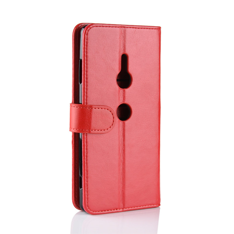 For Sony Xperia XZ3 Case Cover 6 0 inch R64 Grain Wallet Business PU