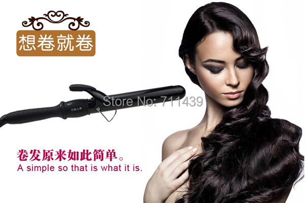 ФОТО free shipping New Fashion Hair Styler Ceramic Tapered Cone Curling Iron Tongs Wand Roller DIY Wavy Hair Tapered curling iron