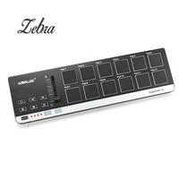 Worlde EasyPad 12 מיני USB נייד 12 כרית תוף MIDI Controller עבור כלי נגינה