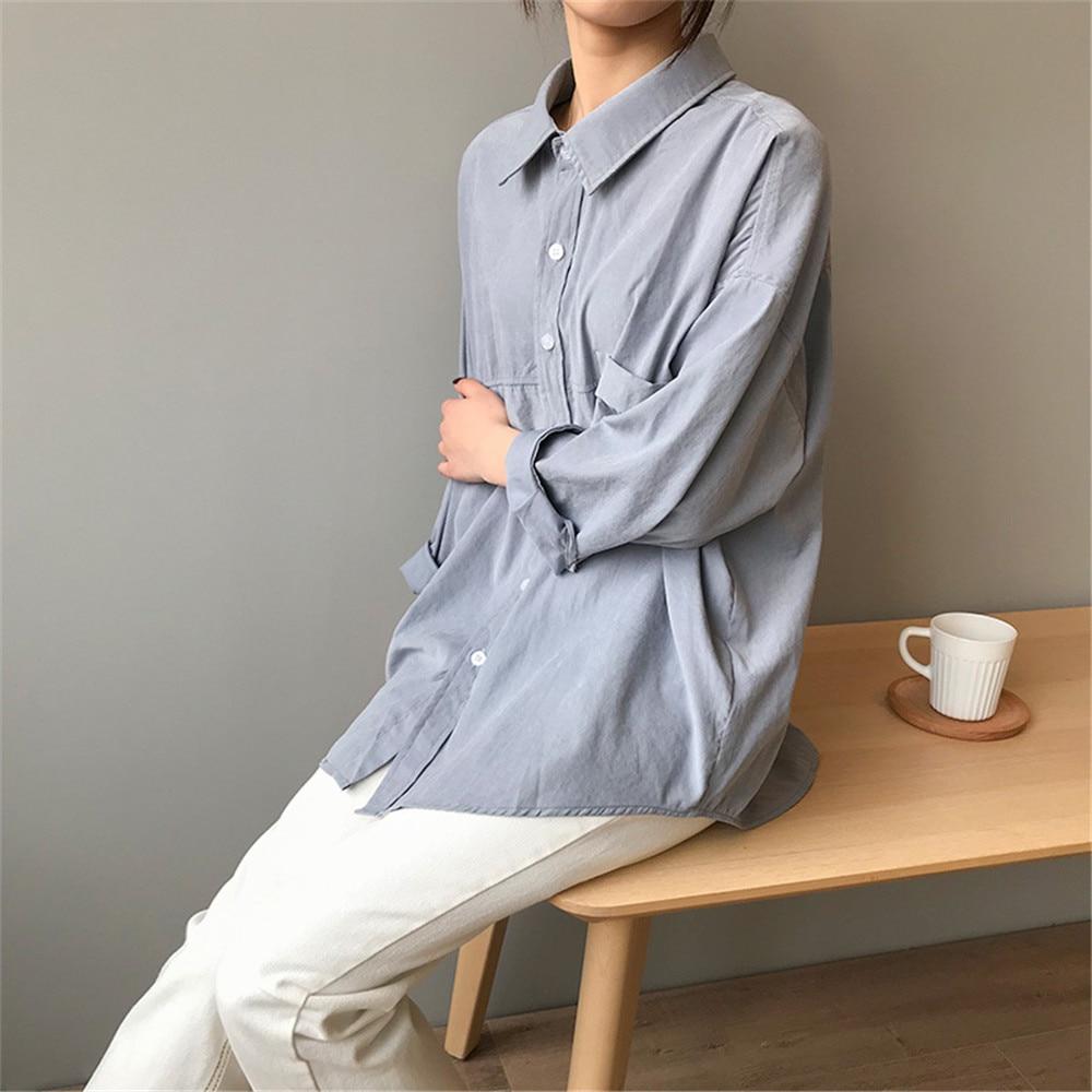 Vintage Women Blouse Shirts 2019 Autumn Korean Long Sleeve Women's Tops Blouses Blusas Roupa Feminina Tops High Quality Y6523 (17)