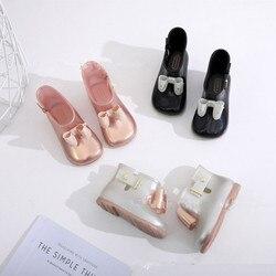 Mini Melissa oryginalny 2020 nowy łuk buty wodoodporne Melissa dziewczyna żelowe sandały dla dzieci buty oddychające Melissa deszcz buty