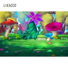 Laeacco Fairy Tale Cartoon Juggle Children Room Photography Backgrounds Custom Vinyl Photo Backdrops For Home Video Studio Decor