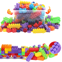 Nontoxic Educational Brick Blocks Classical Toy For Baby Kid Children Colorful Model Building Toys Hobbies Tank