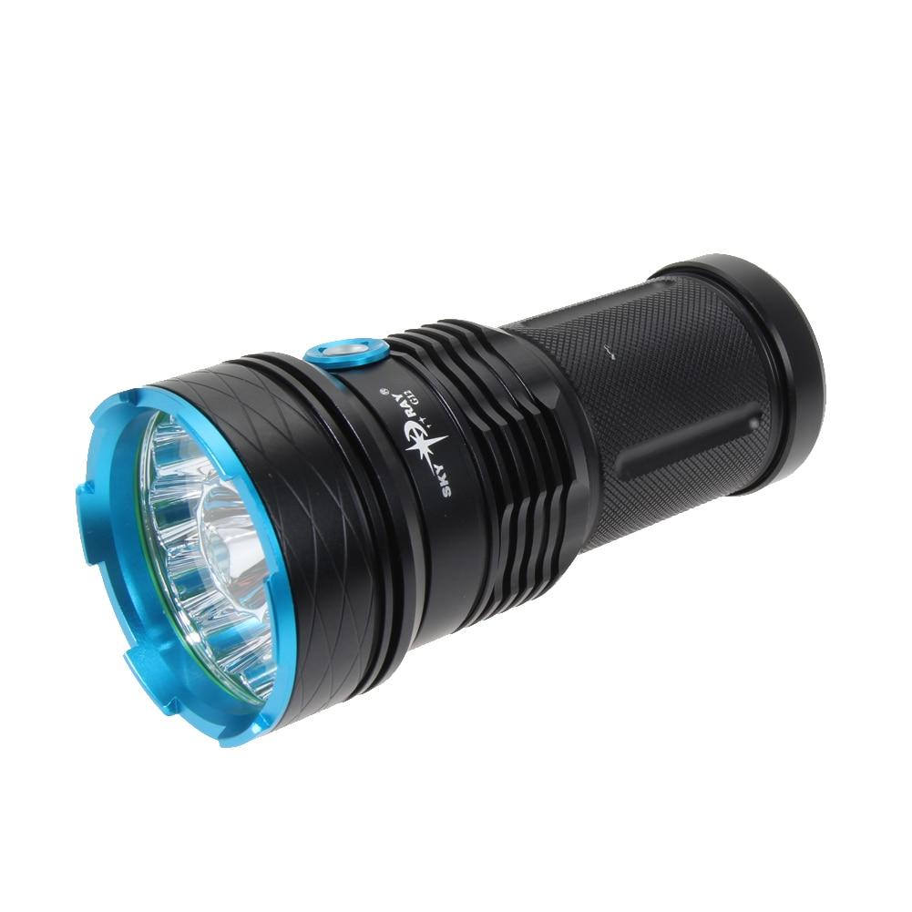 Портативный <font><b>G12</b></font> Алюминий сплава супер яркий светодиодный фонарик 30000lm 12 xm-l T6 светодиодный фонарик для 18650 3.6 В/ 3.7 В батареи