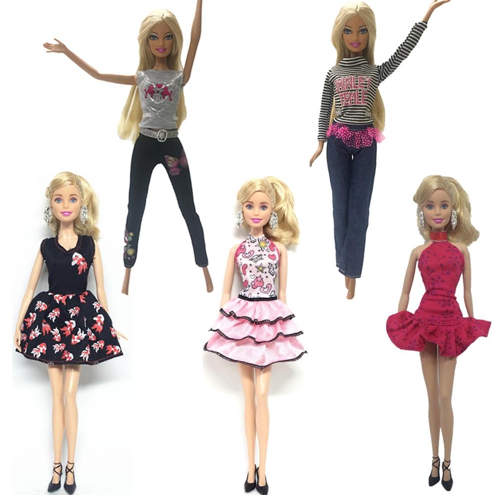 Isuper Set Ropa Para Muñeca Barbie Vestidos Barbie Falda