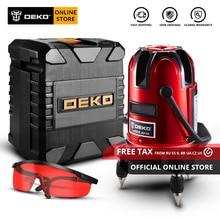 Оригинальный DEKO LL58 самонивелирующийся 5 линия 6 точек горизонтальный и вертикальный лазерный уровень 360 градусов Регулировка высокой видимости Y Box