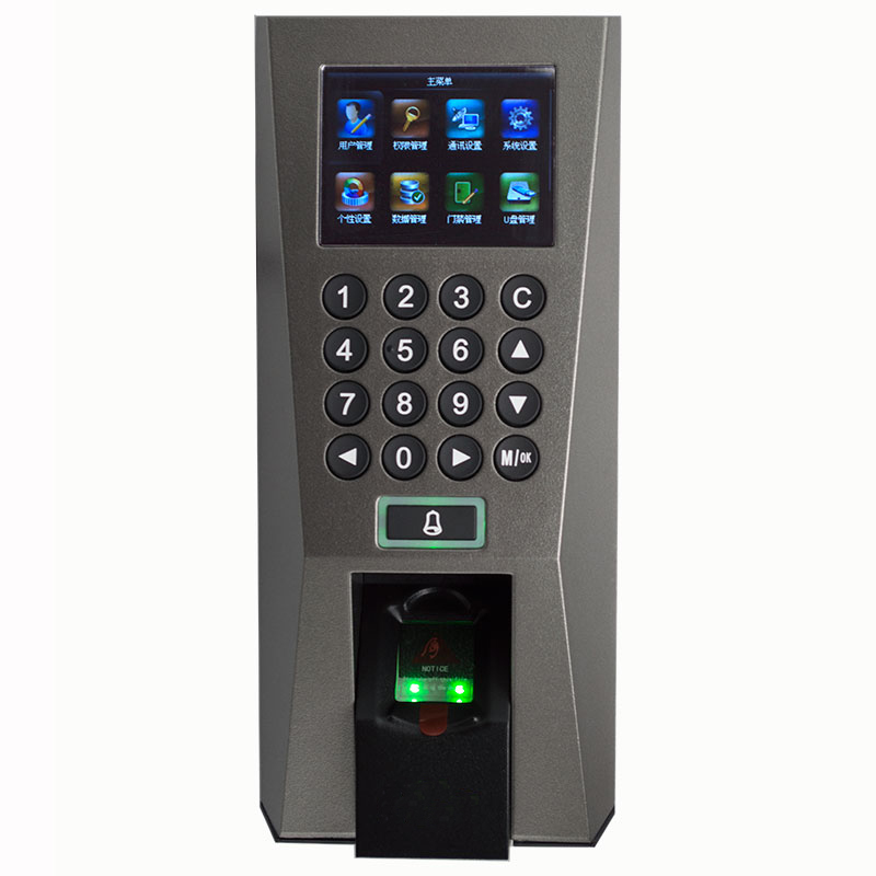 ZK F18 Access Control Time Attendance System ZKTime5.0 Attendance System F18 Fingerprint Access Control With IC MF Card 13.56Mhz network access control staff attendance management system