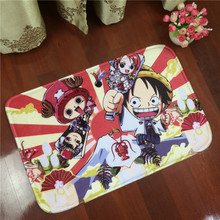 Cartoon One Piece Luffy Joba Printing Carpet Anti-slip Flannel Household Floor Door Mat for Living Room Bathroom Free Shipping(China)