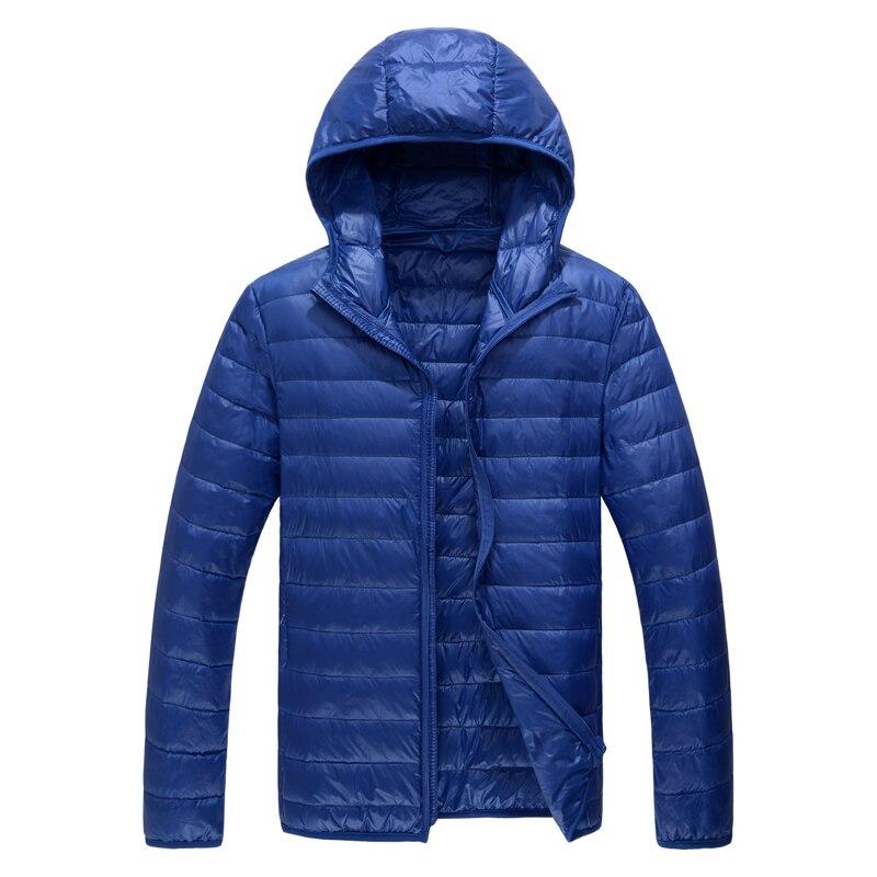 2019 Winter Fashion Brand Ultralight Duck Down Jacket Mens Hooded Streetwear Light Feather Coat Waterproof Warm Mens Clothing