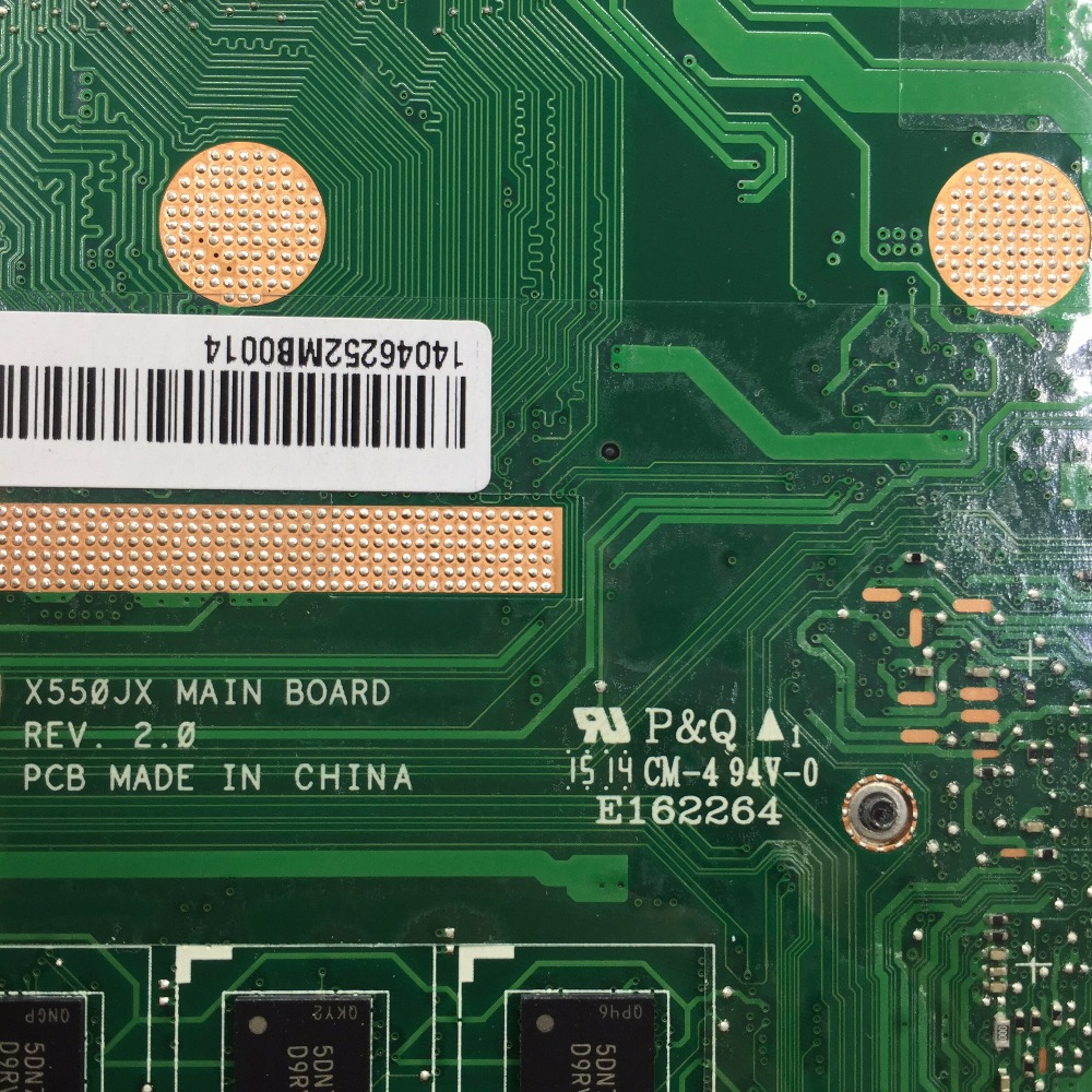 SHELI original X550JX X550JF laptop motherboard for ASUS X550JD motherboard tested notebook in stock I7-4720HQ GTX920 mainboard