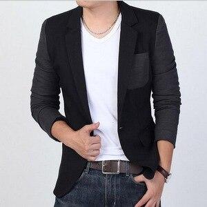 Image 2 - VXO męska Casual Slim Fit solidna żakiet z dzianiny dresowej męska suknia ślubna marynarka marki męska casualowa kurtka Slim Fit Asian rozmiar M 6XL