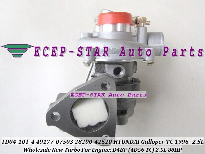 TD04-10T-4 49177-07503 28200-42520 28200 42520 Turbo Turbocharger For HYUNDAI Galloper TC 1996- Engine D4BF (4D56 T/C) 2.5L 88HP