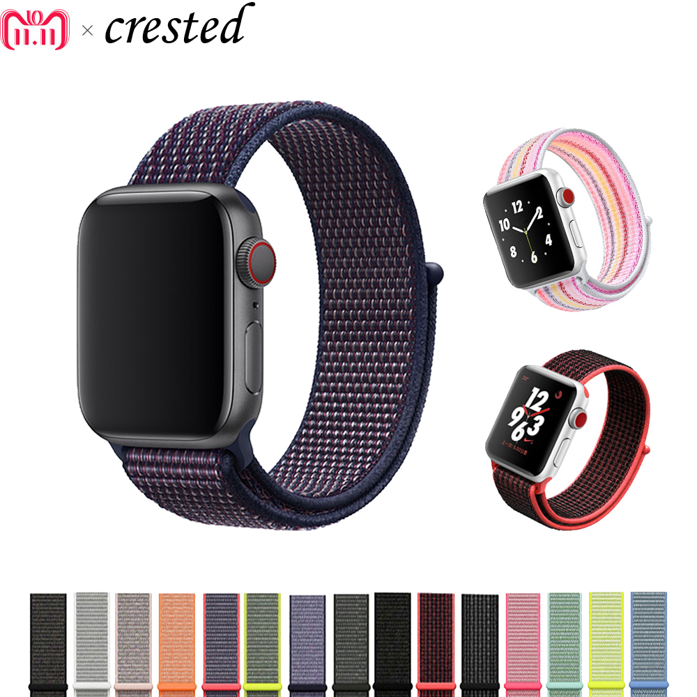 Sport Nylon Loop Strap for Apple Watch Band 42mm 38mm iwatch Bands 3/2/1 Nike Replacement Wrist Bracelet Watchband Watch Women sport loop for apple watch band case 42mm 38mm nylon watch strap bracelet with metal frame protector case cover for iwatch 3 2 1