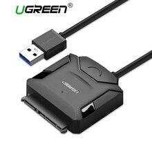 Ugreen Sata Adaptateur Câble USB 3.0 à Sata Convertisseur 2.5 3.5 pouce Super Vitesse Disque Dur pour DISQUE DUR SSD USB 3.0 à Sata câble