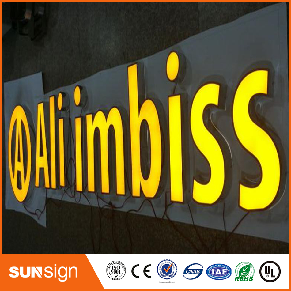Outdoor White Led Light 3d Led Frontlit Channel Letter Signs