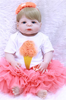 23 FULL silicone dolls reborn wholesale princess dolls for kdis gift bebes reborn menina NPK 57CM doll reborn bonecas