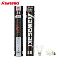 2019 Kawasaki Badminton Shuttlecock King 8E Goose Feather Badminton Shuttlecock Training Sports Speed 76 77 Badminton Ball