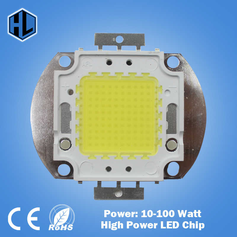 10W 20W 30W 50W 100W High Power Integrated LED lamp Chips SMD Bulb White/Red/Green/Blue/RGB For DIY Flood light Spotlight