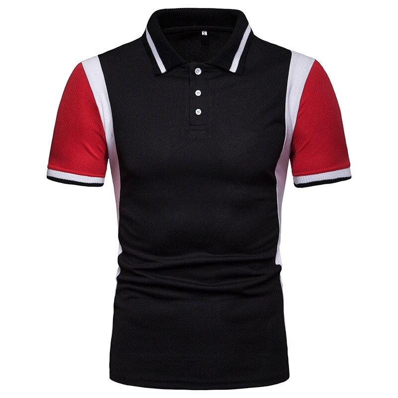 Dropshipping   Polos   Men Patchowork Smart Casual Business   Polo   Shirt Men Soft Clothes Men   Polo