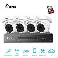 Хранитель 4CH 5MP AHD DVR комплект видеонаблюдения Камера Системы 4 шт. 5.0mp безопасности Камера IP66 наружного видеонаблюдения Системы приложение п