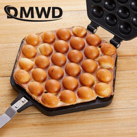 DMWD QQ Egg Bubble Cake Baking Pan Mold Eggettes Iron Aluminum Hongkong Waffle Maker Mould Non-stick Coating DIY Muffins Plate