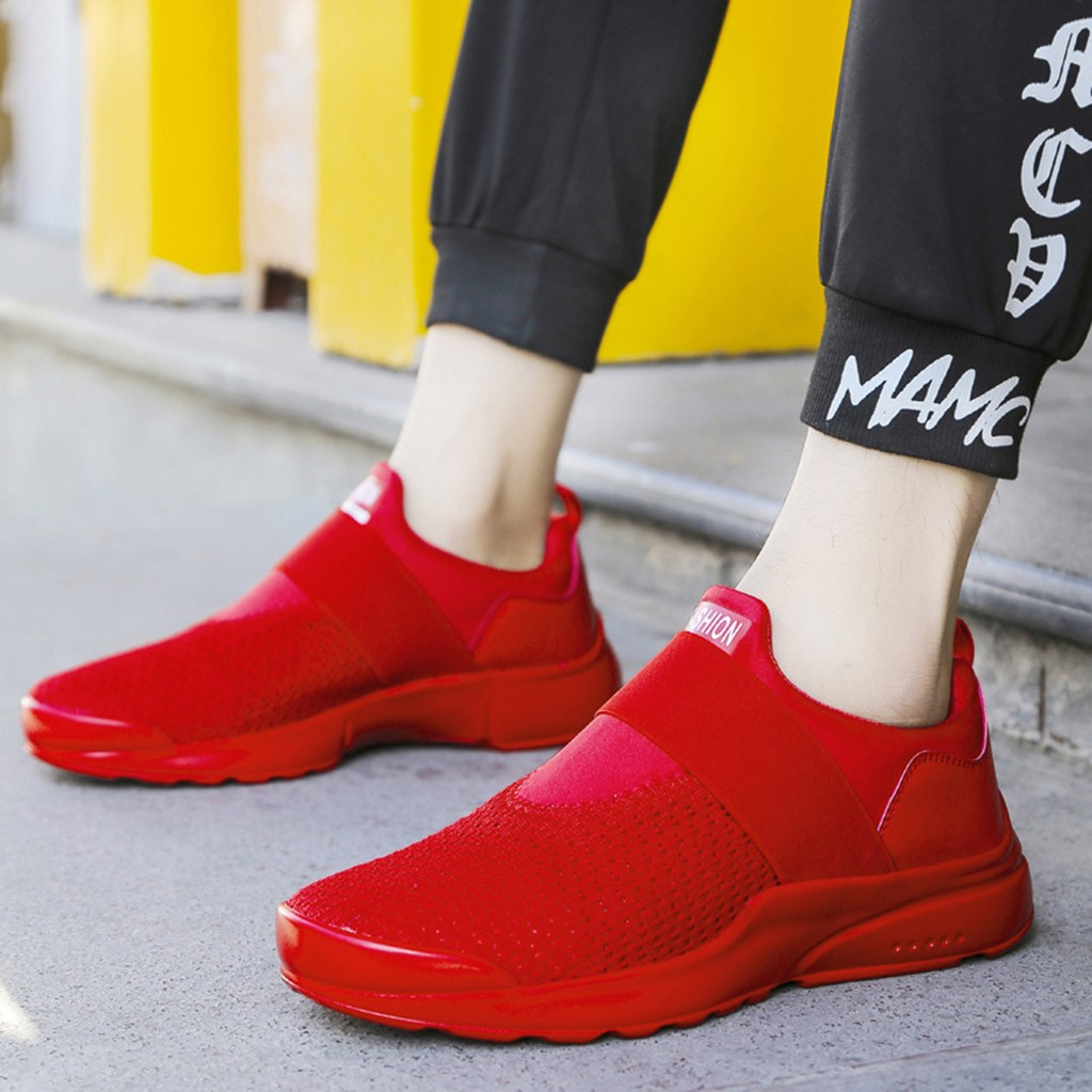 2018 Spring And Autumn Classic New Men'S Shoes Low-Cut Casual Flyweather Men's Fashion Low To Help Fashion Men Casual Shoes #XTN
