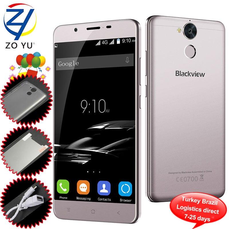 bilder für Blackview P2 Lite Smartphone Android 7.0 MTK6753 Octa-core 5,5 zoll RAM 3G ROM 32G 13.0MP 6000 mAh Fingerprint ID Mobile telefon