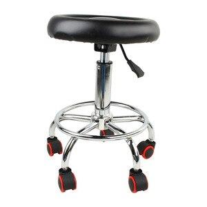 Image 2 - 5 rouleaux tabouret en cuir hauteur réglable chaise de Bar travail chaise rotative tabouret pivotant tabourets de Bar réglables pivotant Banqueta