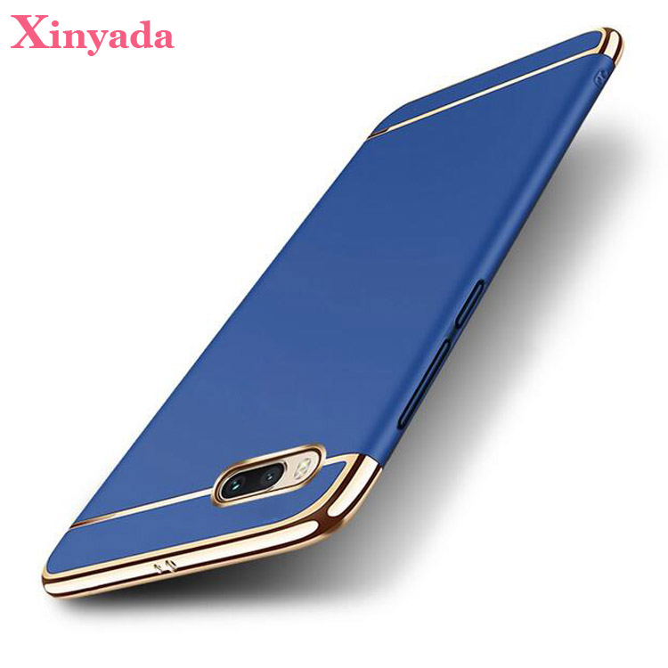 Xinyada Full Protection Luxury Plastic PC Back Case For Xiaomi Mi Note 3 Note3 Matte Cases Cover 3in1 Plating Coque Shockproof