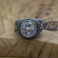 NEW Vintage 100 925 Silver Skull Ring Thai Silver PUNK Ring Real Pure Silver Skeleton Ring