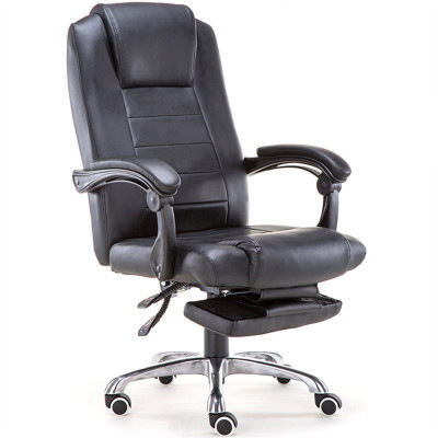 High Quality Soft Ergonomic Executive Office Chair Lifting Reclining Swivel Computer Chair Footrest Lying Office Furniture