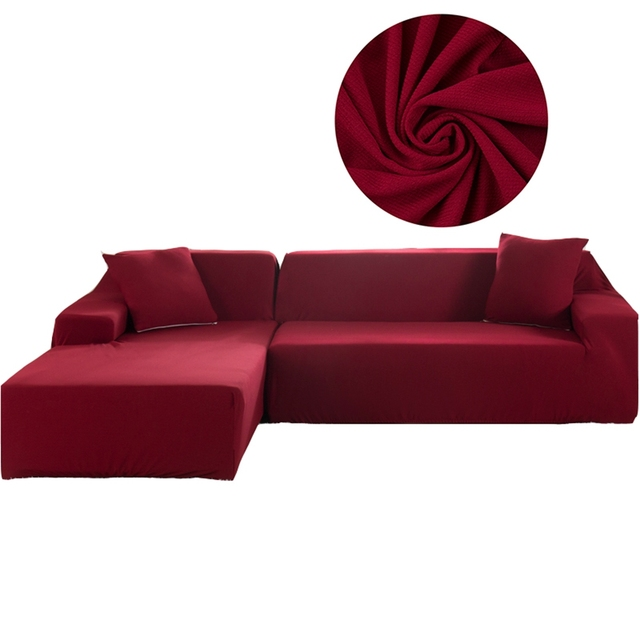 Universal Stretch Furniture Covers For Living Room 2pcs Red