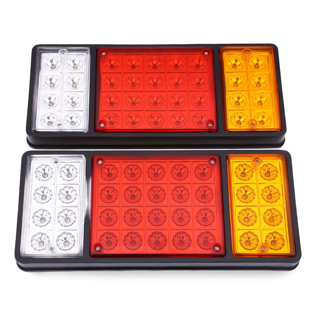 ФОТО 1 Pair of 12V 36 LEDs Trailer Truck Stop Turn Indicator Rear Tail Light more than 50000 hours lifespan