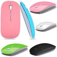 1600 DPI USB Optical Wireless font b Computer b font Mouse 2 4G Receiver Super Slim
